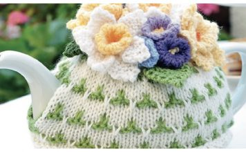 Flower Tea Cosy Free Knitting Pattern