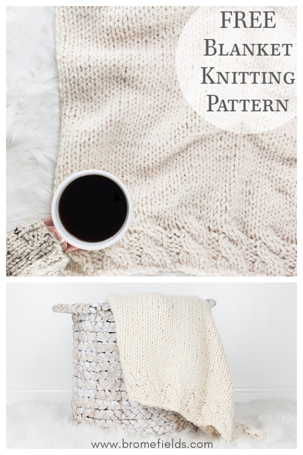 Grace Cable Blanket Free Knitting Pattern