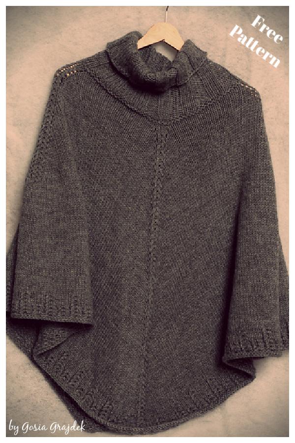 Hugo Poncho Free Knitting Pattern