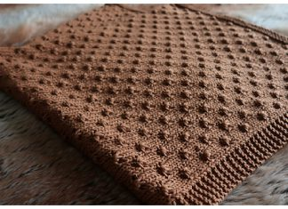 Knot Stitch Baby Blanket Free Knitting Pattern