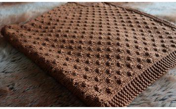 Knot Stitch Baby Blanket Free Knitting Pattern