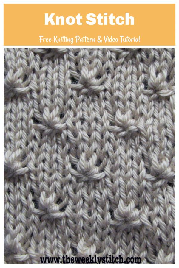 Knot Stitch Free Knitting Pattern and Video Tutorial