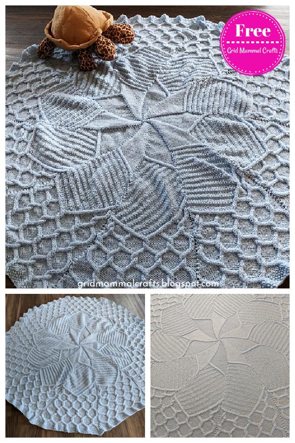 May Flowers Baby Blanket Free Knitting Pattern