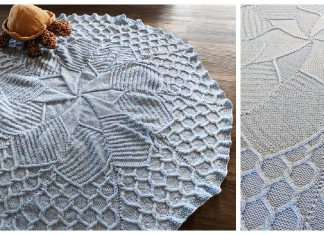 May Flowers Baby Blanket Free Knitting Pattern
