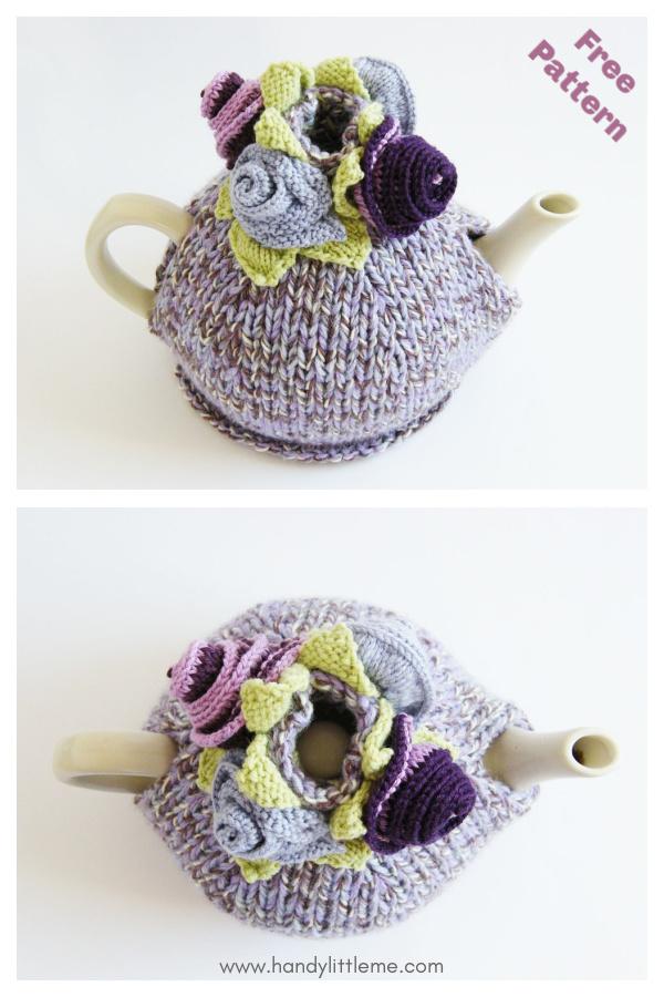 Monet's Garden Tea Cosy Free Knitting Pattern