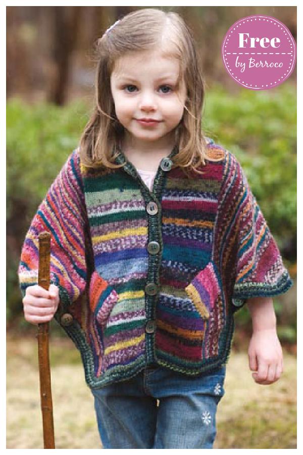 Saige Poncho Cardigan Free Knitting Pattern