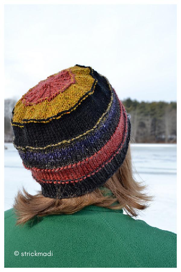 Scrap-happy Celebration Hat Free Knitting Pattern