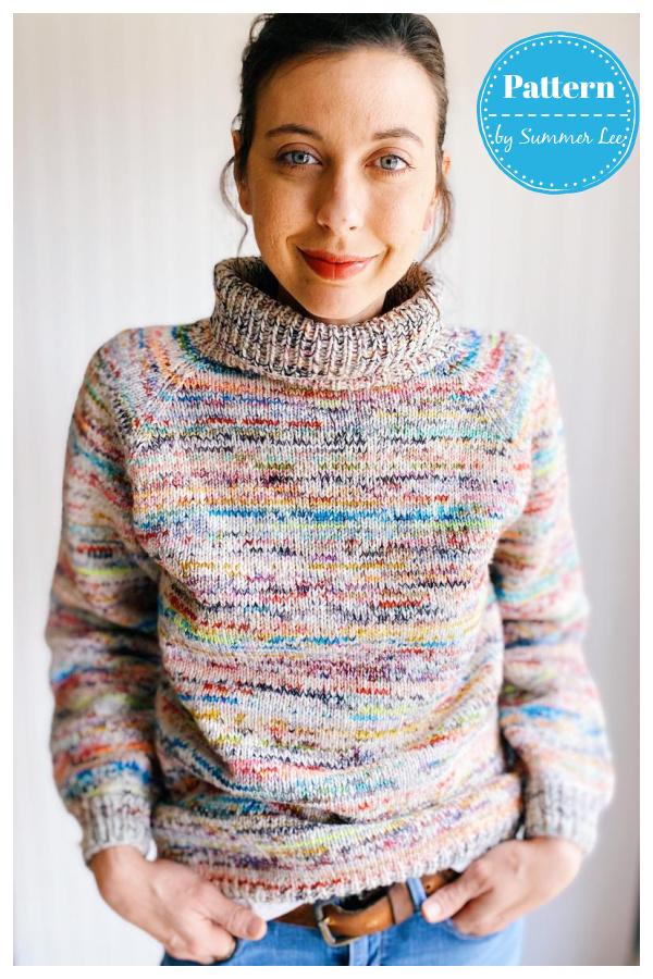 Stash Dive Raglan Sweater Knitting Pattern