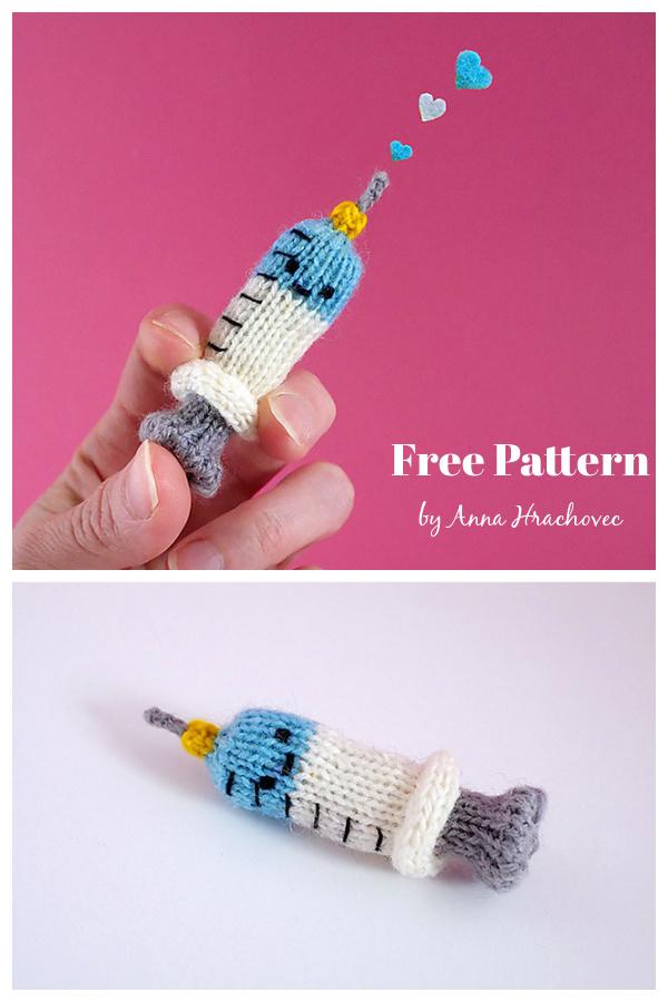 Syringe Amigurumi Free Knitting Pattern