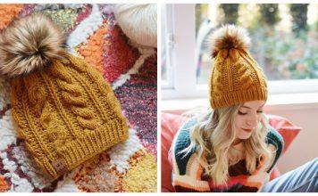 The Prudy Beanie Free Knitting Pattern