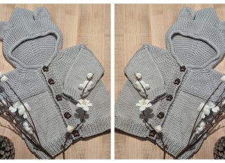 Baby Bear Hoodie Sweater Free Knitting Pattern