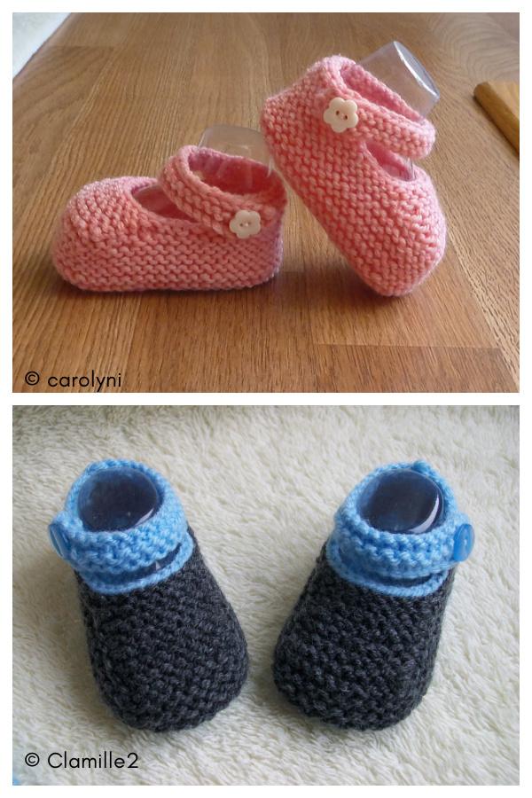 Baby Booties Free Knitting Pattern