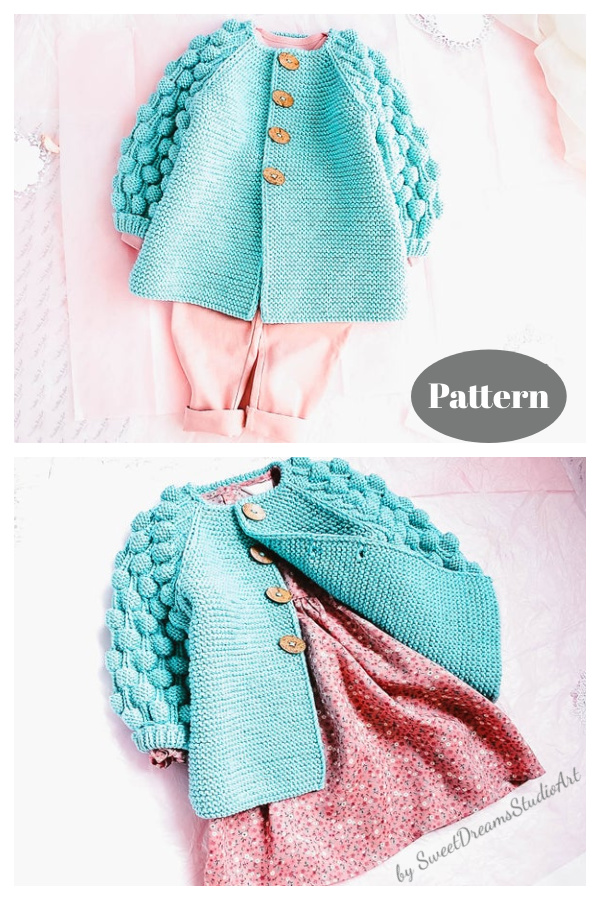Baby Puff Cardigan Knitting Pattern