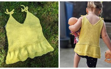 Baby Summer Top Free Knitting Pattern and Video Tutorial