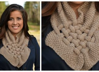 Basket Weave Cowl Free Knitting Pattern