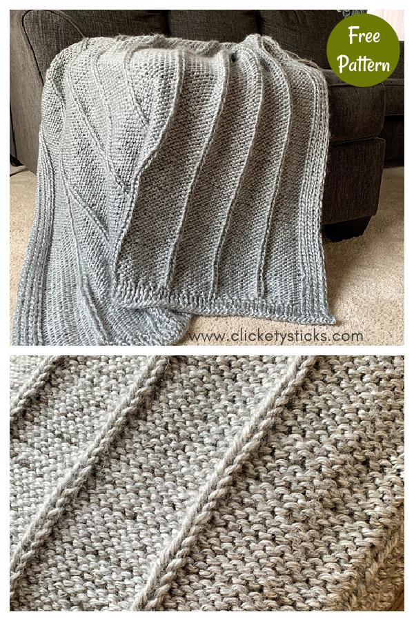 Birch Knit Afghan Free Knitting Pattern