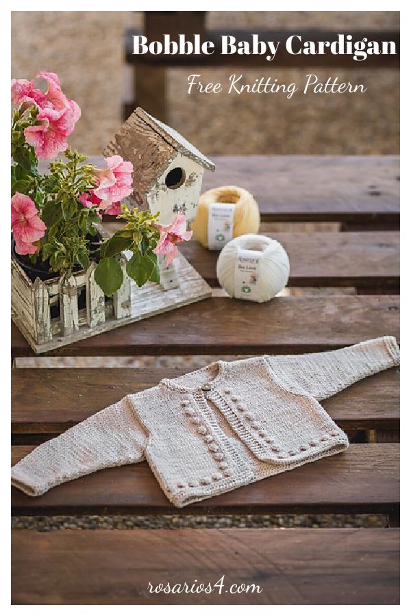 Bobble Baby Cardigan Free Knitting Pattern