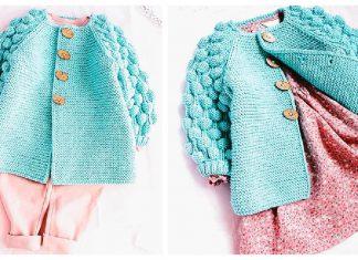 Bobble Baby Cardigan Knitting Pattern