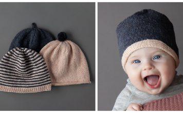 Classic Baby Hats Free Knitting Pattern