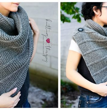 Cocoon Maxi Button Scarf Free Knitting Pattern