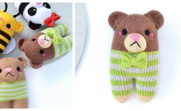 Cute Bear Free Knitting Pattern