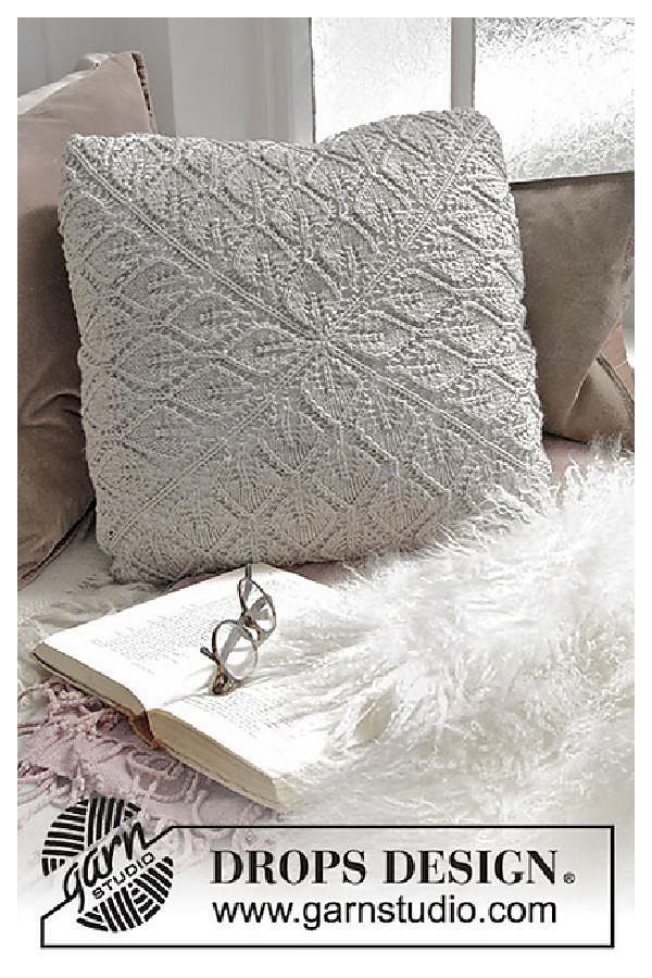 Don't Leaf Me Behind Pillow Free Knitting Pattern