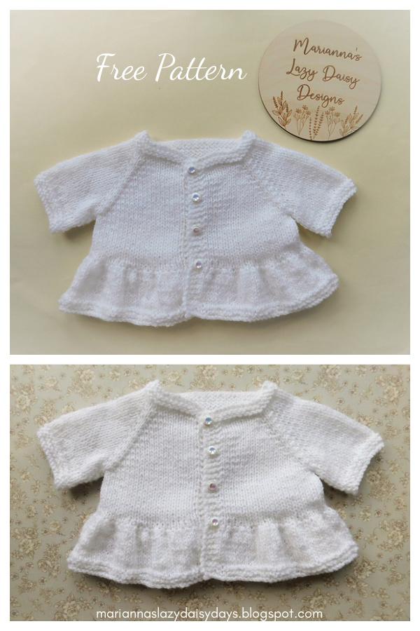 Eliza Baby Cardigan Patrón de tejido gratuito