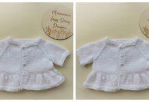 Eliza Baby Cardigan Free Knitting Pattern