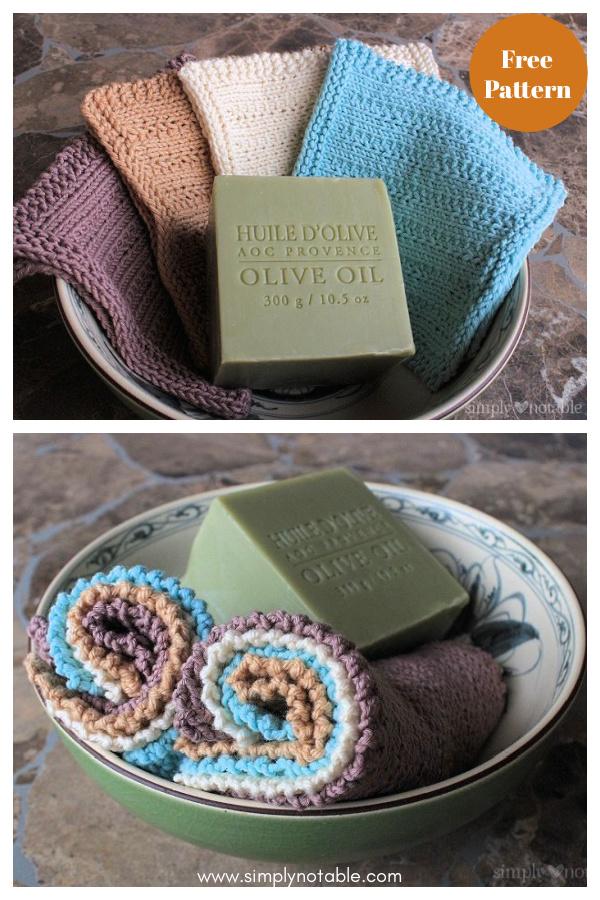 Jelly Roll Washcloth Free Knitting Pattern