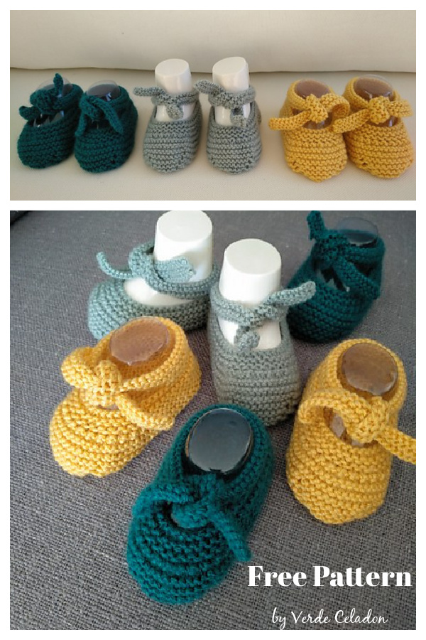 Knot Baby Shoes Free Knitting Pattern
