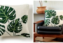 Leaf Pillow Free Knitting Pattern