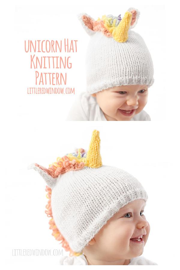 Magical Unicorn Baby Hat Free Knitting Pattern