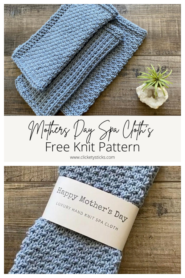 Mothers Day Spa Cloths Free Knitting Pattern