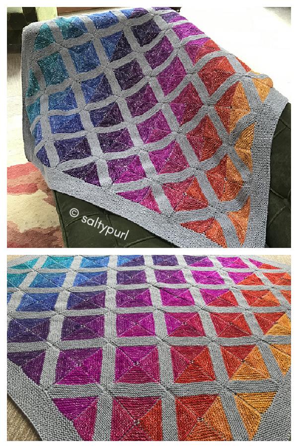 Pathways Blanket Free Knitting Pattern
