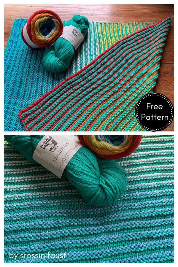 Sliding is Fun Baby Blanket Free Knitting Pattern