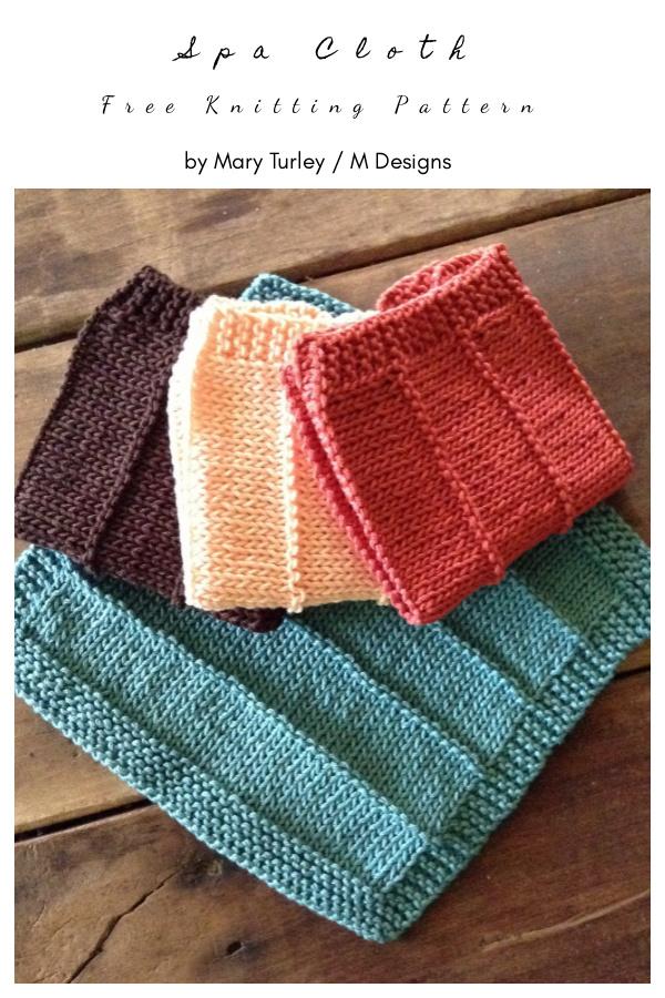 Spa Cloth Free Knitting Pattern