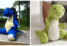 T-Rex Toy Free Knitting Pattern