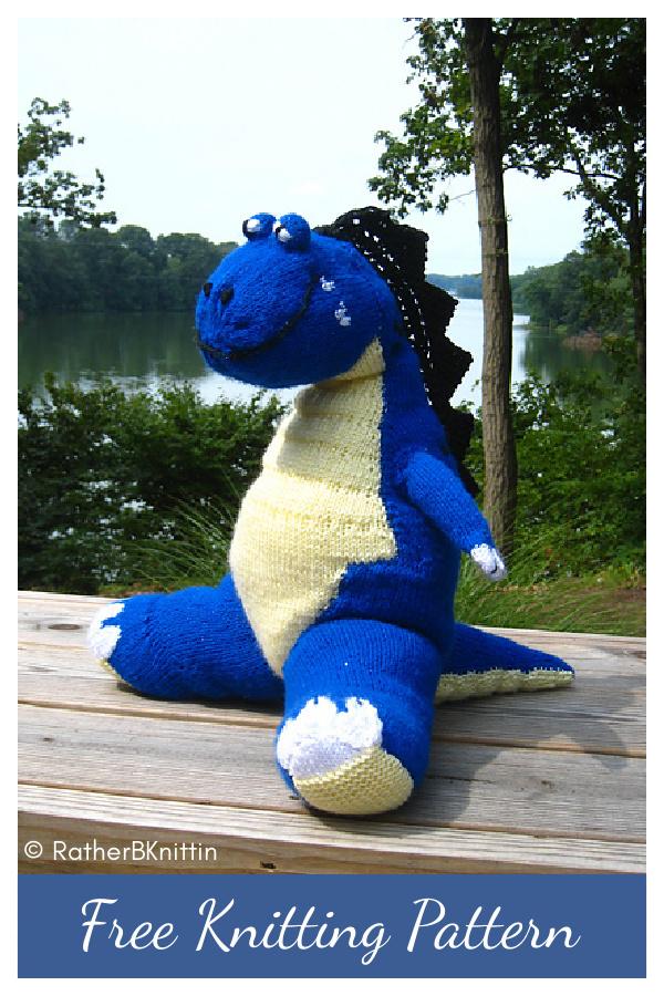 T-Rex Toy Free Knitting Pattern