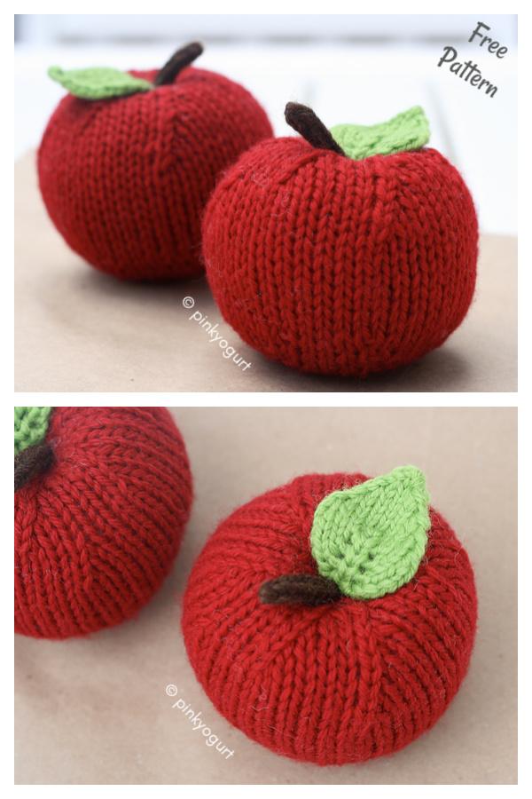 Apple Free Knitting Pattern