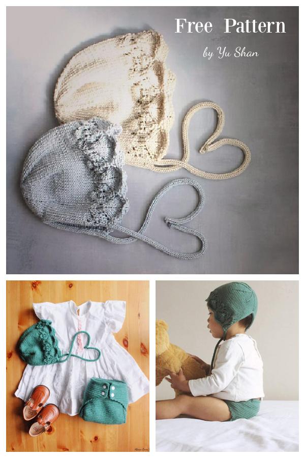 Boa Baby Bonnet Free Knitting Pattern