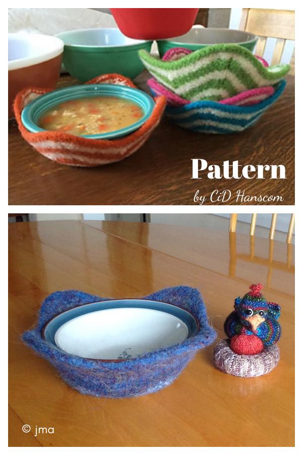 Bowl Holder Knitting Pattern