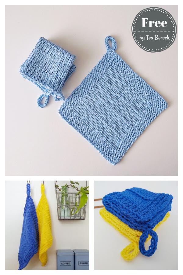Breeze Washcloth Free Knitting Pattern