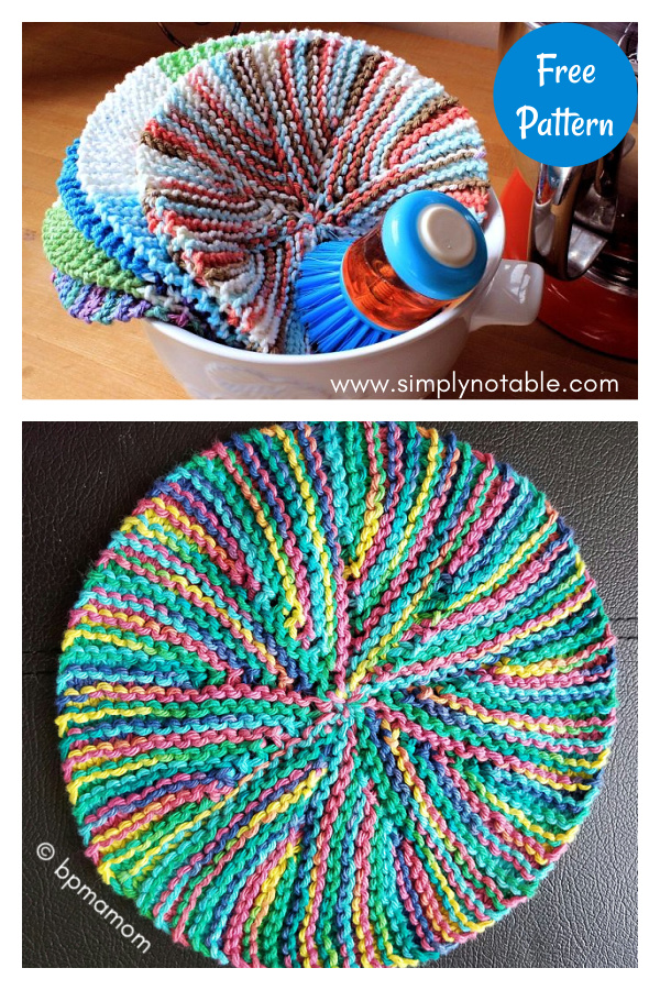 Crazy Eights Dishcloth Free Knitting Pattern