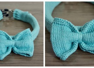 Dog Collar Cover Free Knitting Pattern