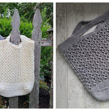 Farmer's Market Tote Bag Free Knitting Pattern