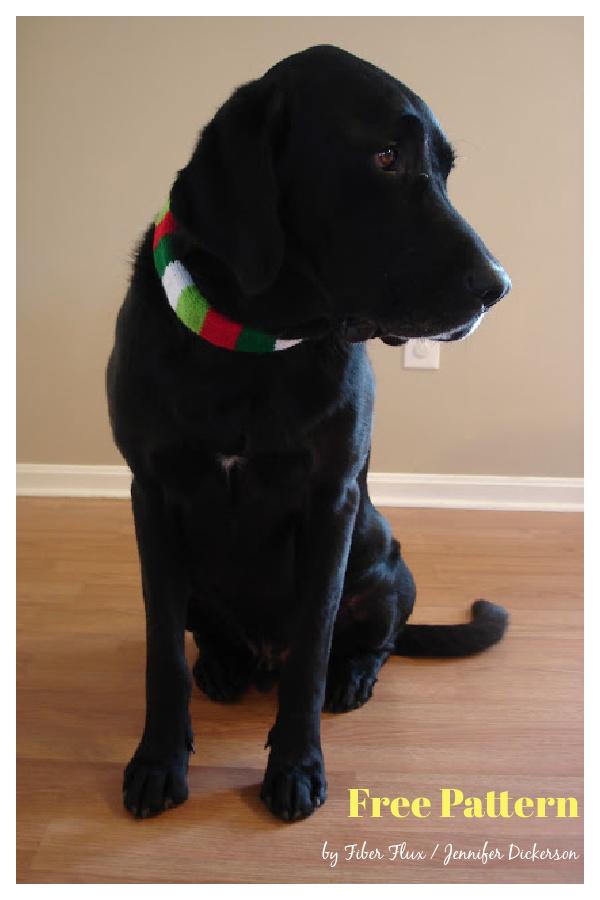Festive Dog Collar Sleeve Free Knitting Pattern