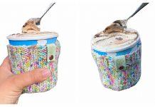 Ice Cream Pint Cozy Free Knitting Pattern