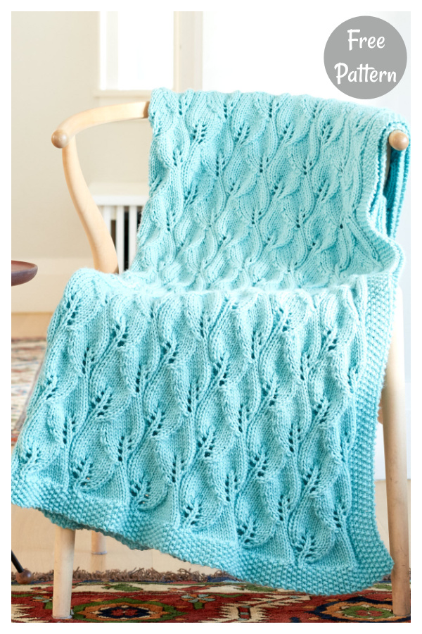Lace Leafy Afghan Free Knitting Pattern