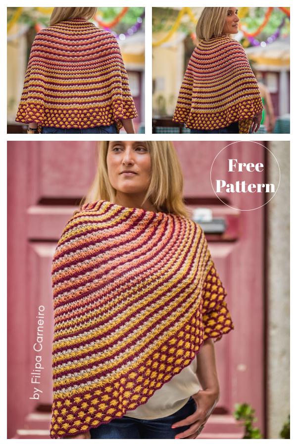 Santo António Shawl Free Knitting Pattern