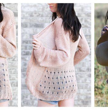 Senna Summer Sweater Free Knitting Pattern